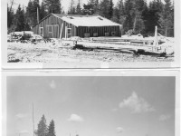 2 pictures of 50 s woods camps